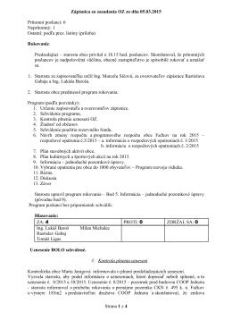 Zápisnica - Obec Fačkov