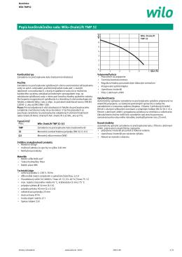 Popis konštrukčného radu: Wilo-DrainLift TMP 32