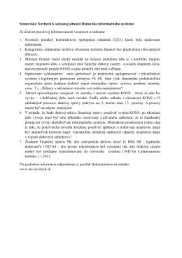 TASR - Stanovisko Novitech - V4