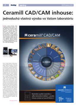Ceramill CAD/CAM inhouse: - Dental Tribune International