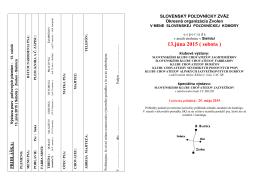 Klubové výstavy usporiadané 13.júna 2015 v Sielnici