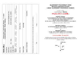 09.júna 2013 ( nedeľa ) - Klub chovatelov farbiarov