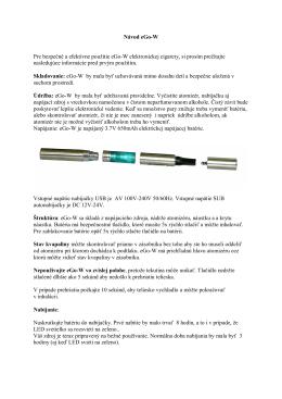 Návod pre eGo-W - cigaretaelektronicka.sk