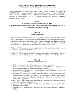 Návrh Bátorove Kosihy VZN č. 1_2013