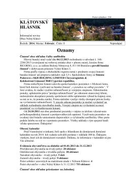 Hlásnik 01/2014