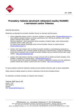 Procedúry rieıenia ZR Huawei