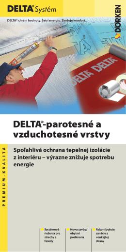 DELTA®-parotesné a vzduchotesné vrstvy