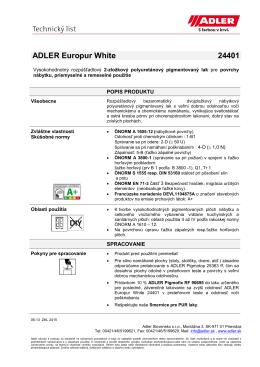 ADLER Europur White 24401