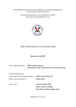 hodnotenie monitorovania za rok 2011 v subsystéme 04