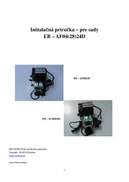 Inštalačná príručka – pre sady EB – AF04(28)24D