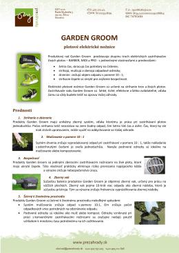 Garden Groom - elektrické nožnice na živý plot