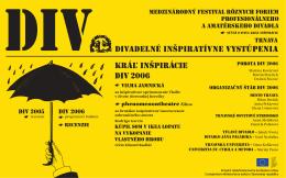 DIV Divadelné inšpiratívne vystúpenia Kráľ inšpirácie DIV