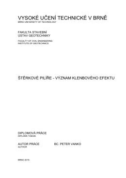 4 analýza klenbového efektu - Vysoké učení technické v Brně