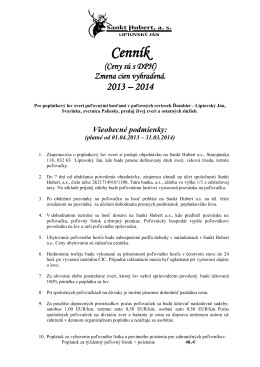Cenník na stiahnutie vo formáte PDF