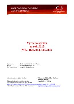 2013 - Ministerstvo kultúry SR