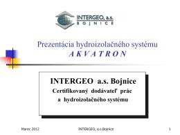 Prezentácia hydroizolačného systému