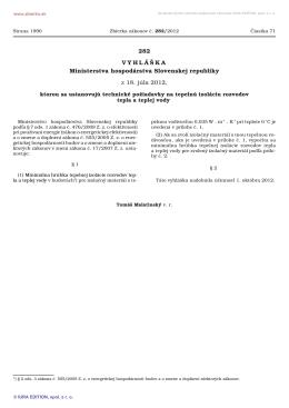 282/2012 - Ministerstvo hospodárstva SR