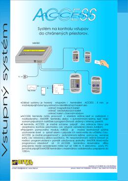 Vstupný systém Access Vstupný systém