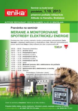 program meranie a monitorovanie spotreby elektrickej energie