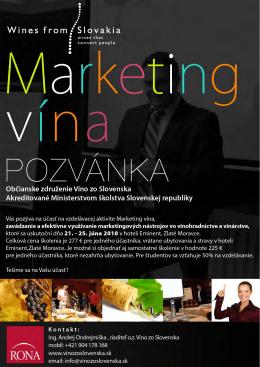 Marketing vína - program vzdelávania NÁJDETE TU!