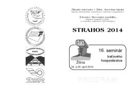 STRAHOS 2014 - Stavebná fakulta