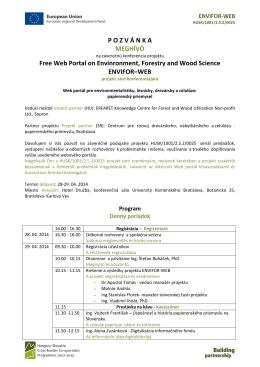POZV Á NKA MEGHÍVÓ Free Web Portal on Envinronment, Forestry