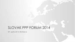 SLOVAK PPP FORUM 2014