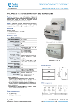 trojfázové statické elektromery trojfázové statické