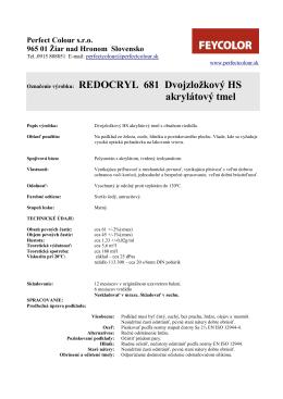 Označenie výrobku: REDOCRYL 681 Dvojzložkový