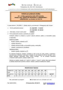 drevárstvo a nábytkárstvo - Spojená škola Tokajícka 24