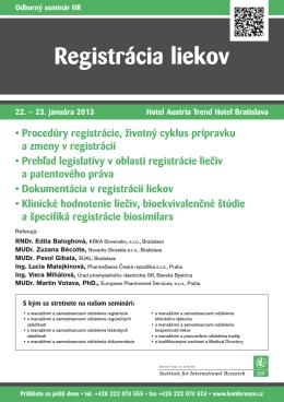 Registrácia liekov