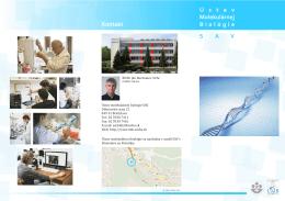 Informačná brožúra ÚMB - Ústav molekulárnej biológie SAV
