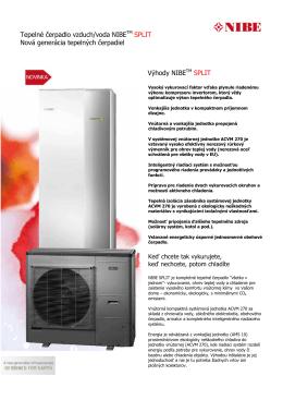 NIBE SPLIT - Informácie o produkte