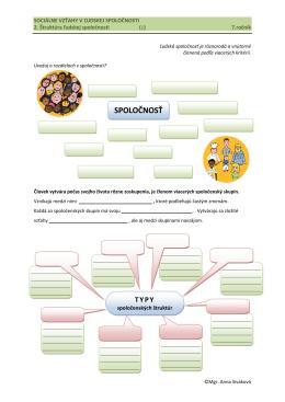 Štruktúra ľudskej spoločnosti a vzťahy v nej