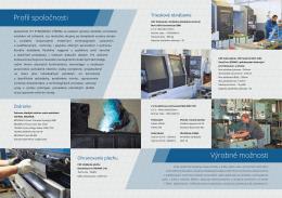 Profil spoločnosti Výrobné možnosti