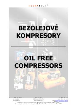 Bezolejové kompresory a príslušenstvo