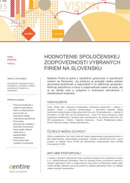 Zodpovedné malé a stredné podniky na Slovensku