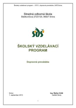 školský vzdelávací program - Stredná odborná škola Snina