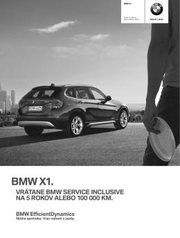 Stiahnite si. Aktuálny cenník pre BMW X1