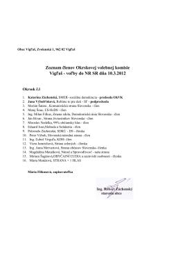 voľby do NR SR dňa 10.3.2012