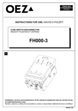 Предохранительный разъединитель нагрузки - FH000-3