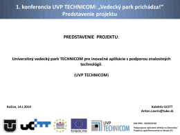 Predstavenie projektu - Technicom