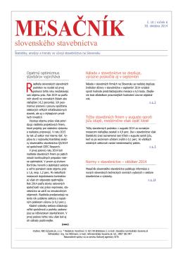 slovenského stavebníctva - ABC