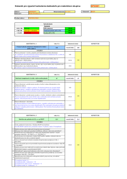 Technický dozor pri GO EMO 2009-2011