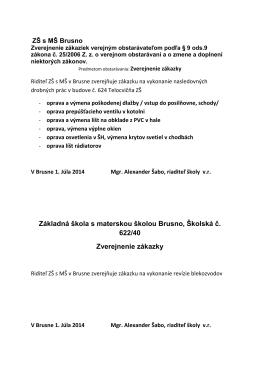 Základná škola s materskou školou Brusno, Školská č
