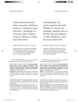 RealFib - Slovenská asociácia srdcových arytmií