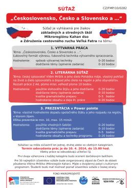 """súťaž """"Československo, Česko a slovensko a …"""""""