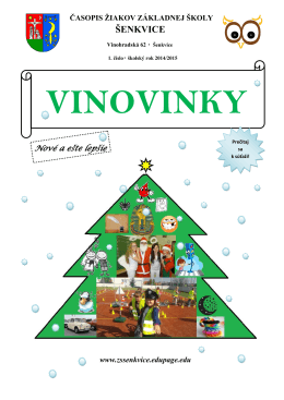 vinovinky - Základná škola Šenkvice