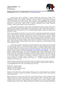 Prezentačný list Caparol