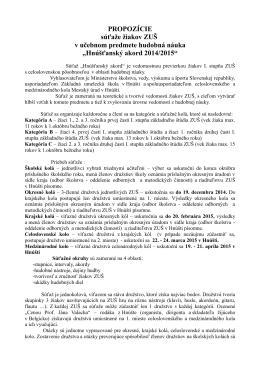 Propozície Hnúšťanský akord SK 2015